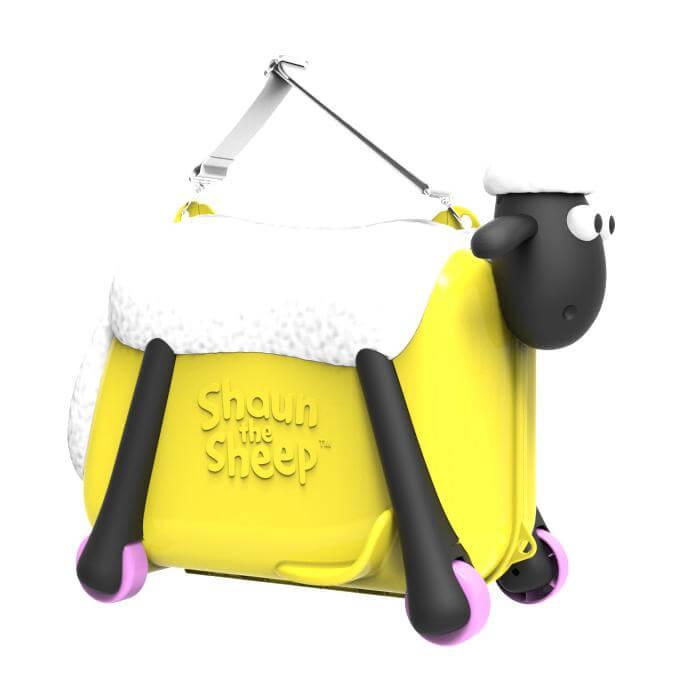 Shaun the Sheep Σον το Πρόβατο Παιδική Βαλίτσα Ταξιδιού, Βάφτισης, Περπατούρα, Παιχνιδόκουτο σε ΚίτρινοΧρώμα