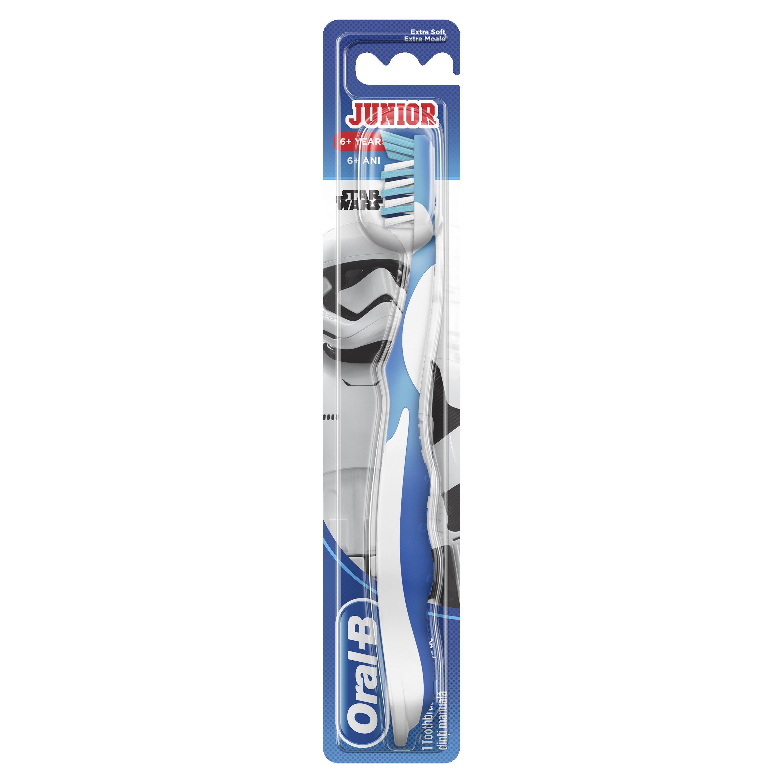 Oral-B Junior Star Wars Extra Soft Παιδική Χειροκίνητη Οδοντόβουρτσα Πολύ Μαλακή Από 6 Ετών 1 Τεμάχιο