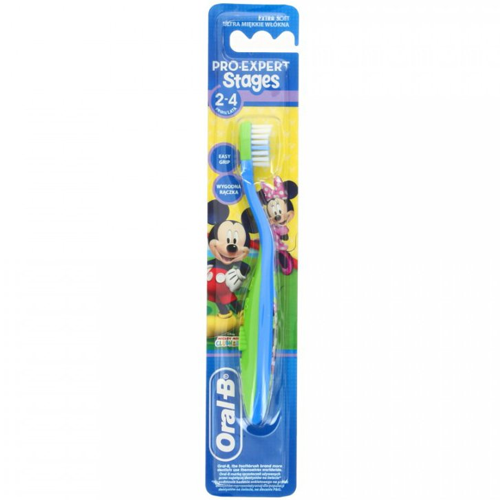 Oral B Παιδική Οδοντόβουρτσα Stages No2 kids 2-4years – πράσινο