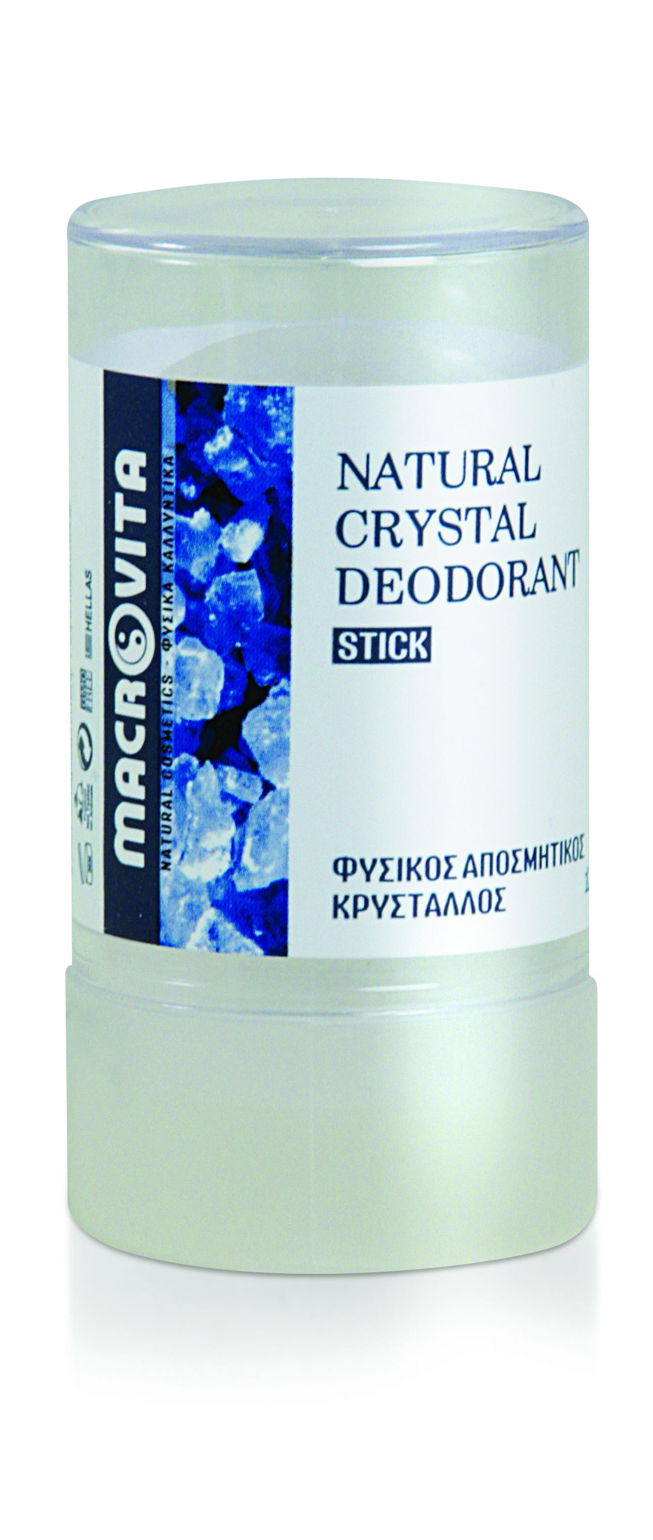 Macrovita Φυσικός Κρύσταλλος Άοσμος Stick 120gr