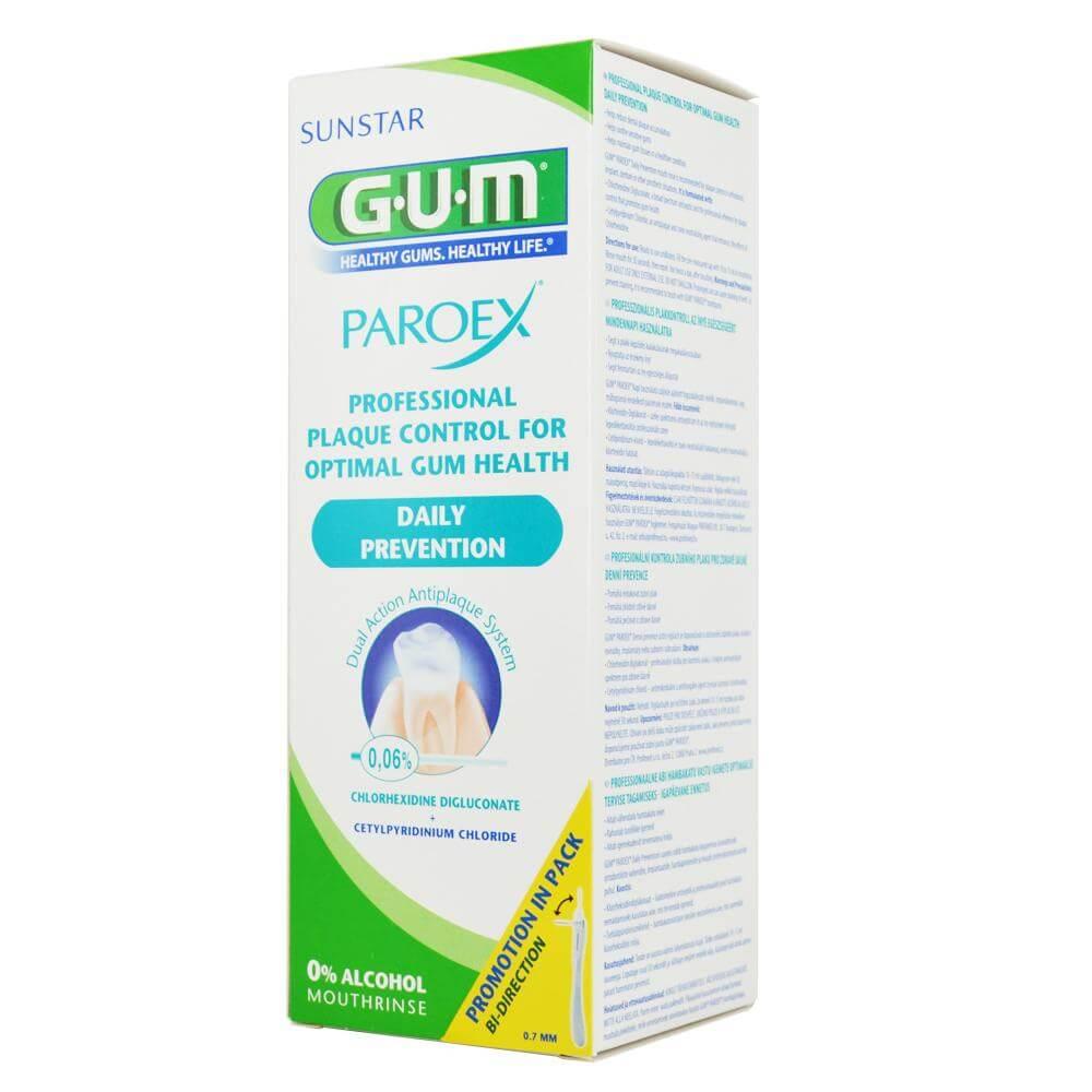 GumParoex 1702 Daily Prevention 0.06% Στοματικό ΔιάλυμαΕνήλικων Ενάντια στη Πλάκα για Υγιή Ούλα500ml