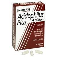 Health Aid Acidophilus Plus (4 billion) Βοηθά Στη Διατήρηση Της Ισορροπίας Της Εντερικής Χλωρίδας 30 κάψουλες