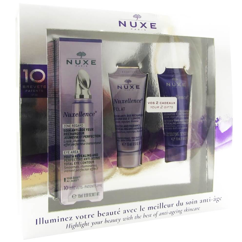 Nuxe Πακέτο Προσφοράς Nuxellence Zone Regarde Soin Anti-Age Yeux 15ml & Δώρο Nuxellence Eclat 15ml, Nuxellence Detox 15ml