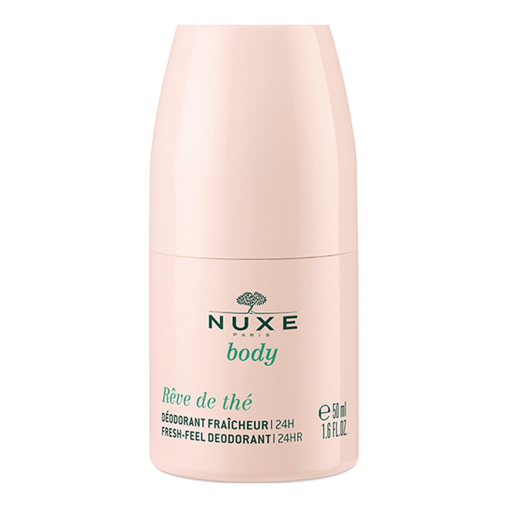 Nuxe Body Reve de The 24h Fresh Feel Deodorant Αποσμητικό σε μορφή Roll on Προστασίας για Αίσθηση Φρεσκάδας 50ml