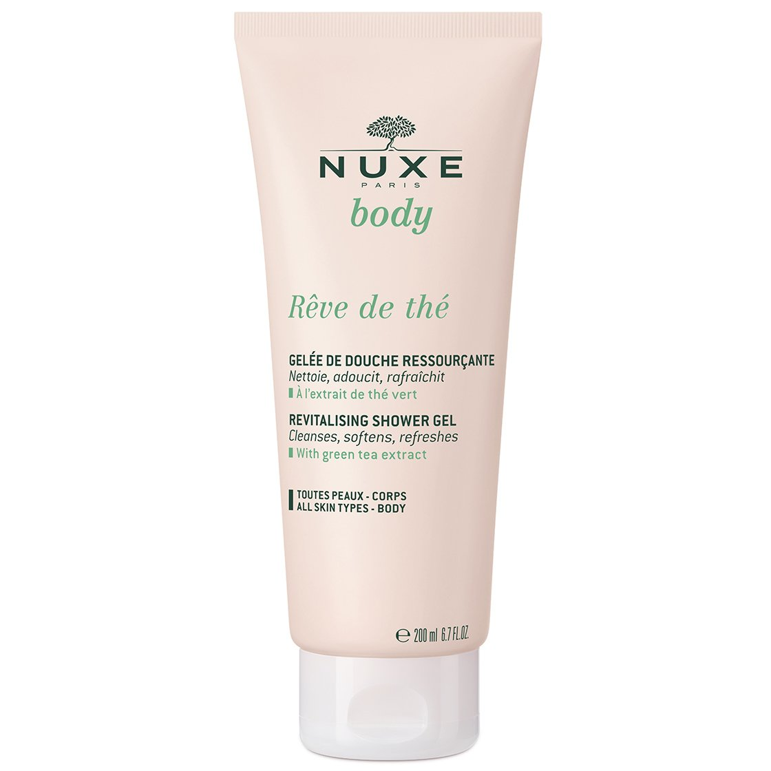 Nuxe Body Reve de The Revitalising Shower Gel Αναζωογονητικό Αφρόλουτρο Σώματος με Εκχύλισμα Πράσινου Τσαγιού 200ml