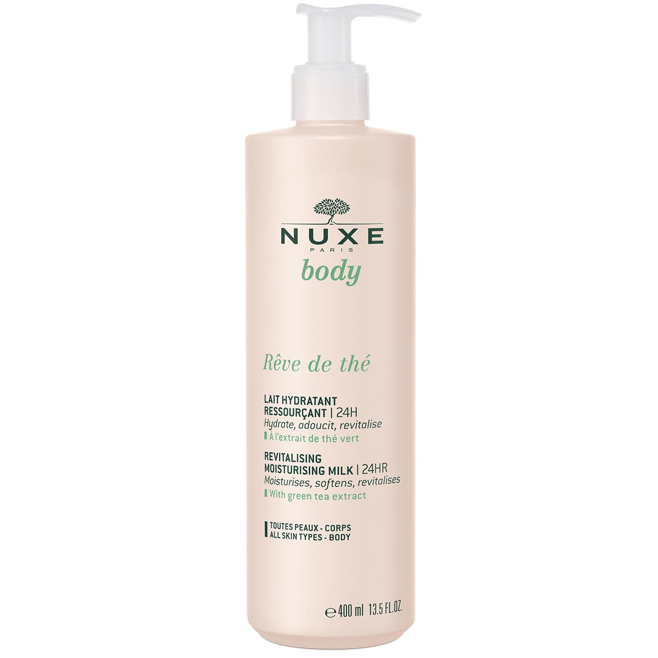Nuxe Body Reve de The Revitalising & Moisturising Milk Αναζωογονητικό & Ενυδατικό Γαλάκτωμα Σώματος 400ml