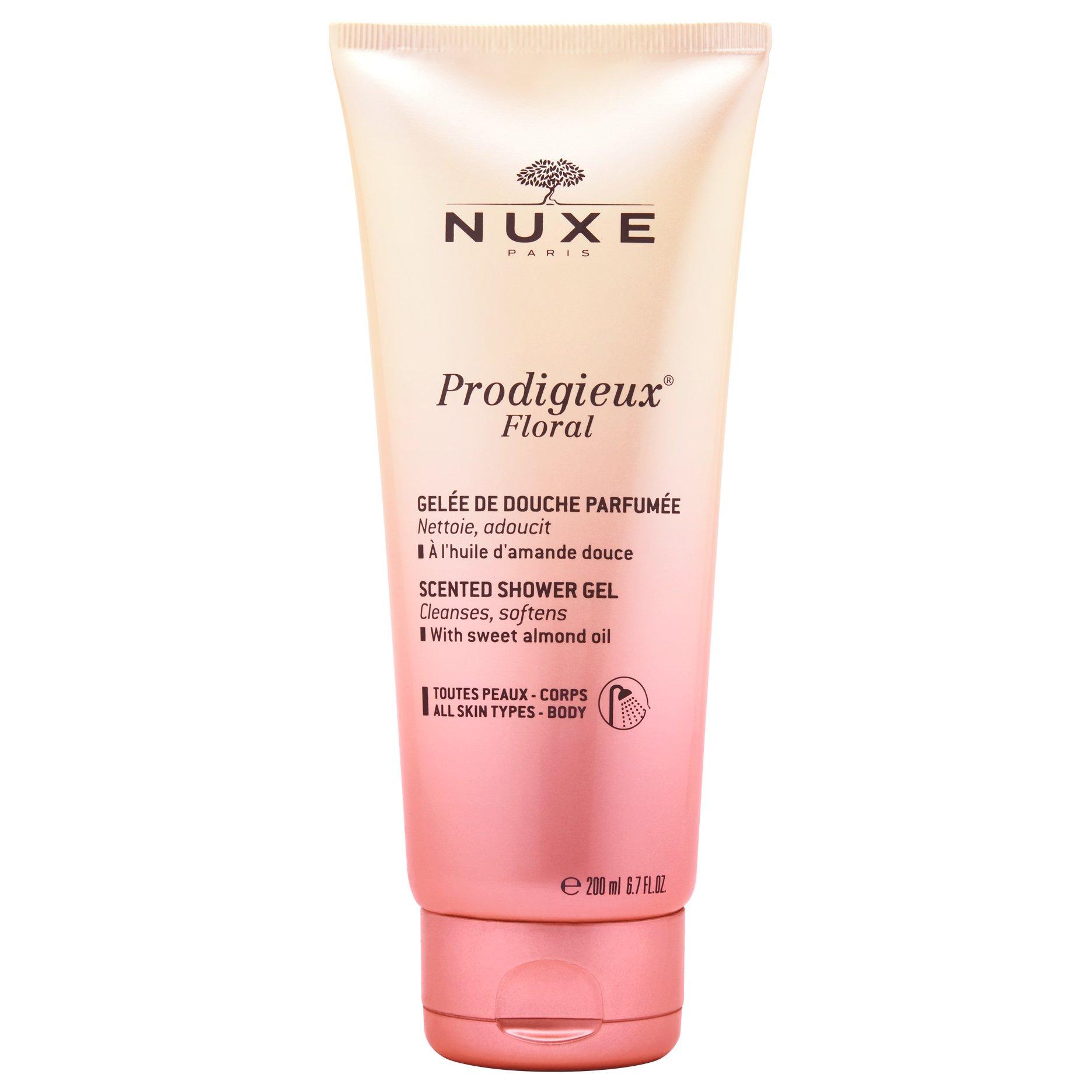 Nuxe Prodigieux Floral Scented Shower Gel Αφρόλουτρο Σώματος με Έλαιο Γλυκού Αμυγδάλου & Λουλουδένιο Άρωμα 200ml