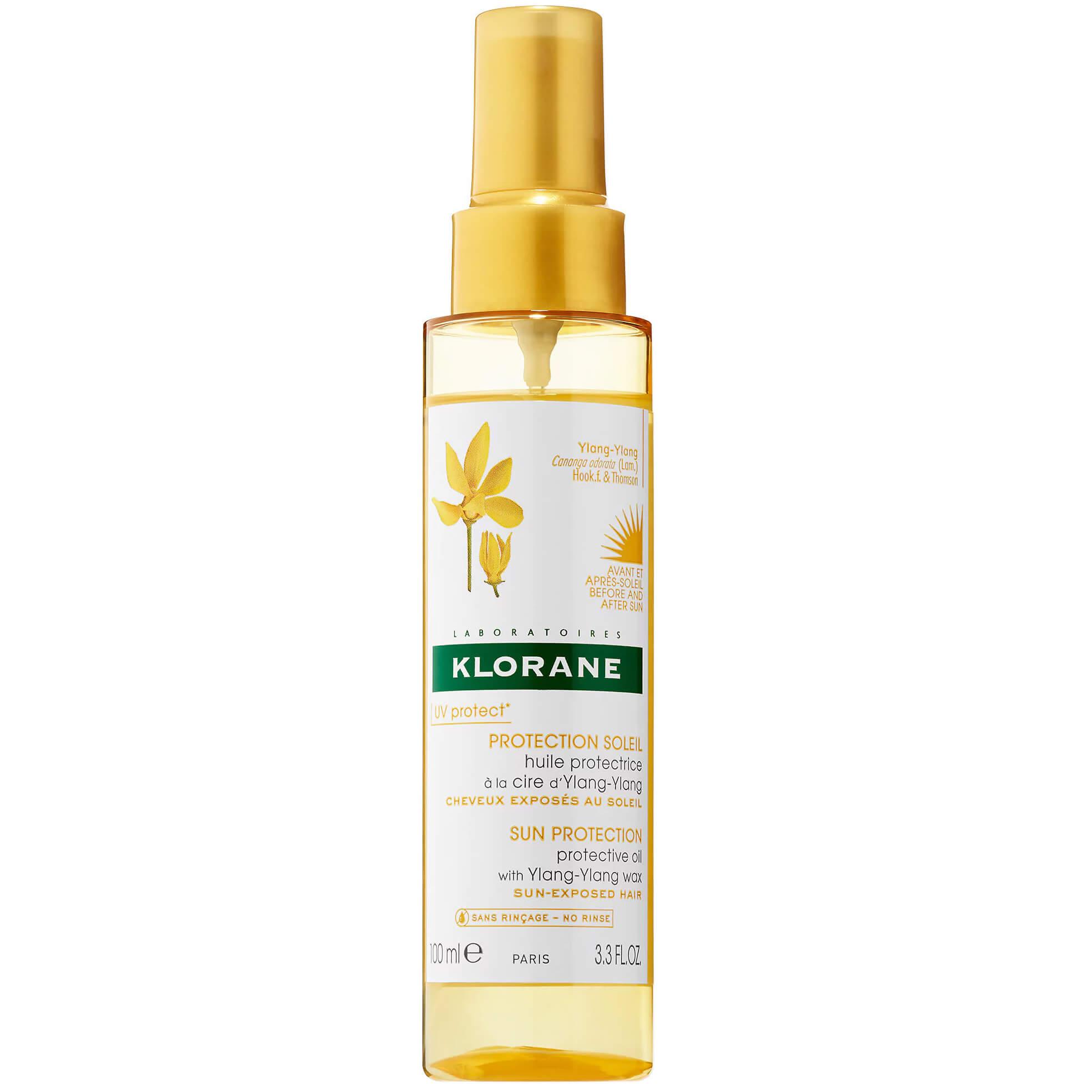 Klorane Huile Soin Soleil Ylang Ylang Αντηλιακό Λάδι σε Spray για Προστασία των Μαλλιών από την Έκθεση στον Ήλιο 100ml