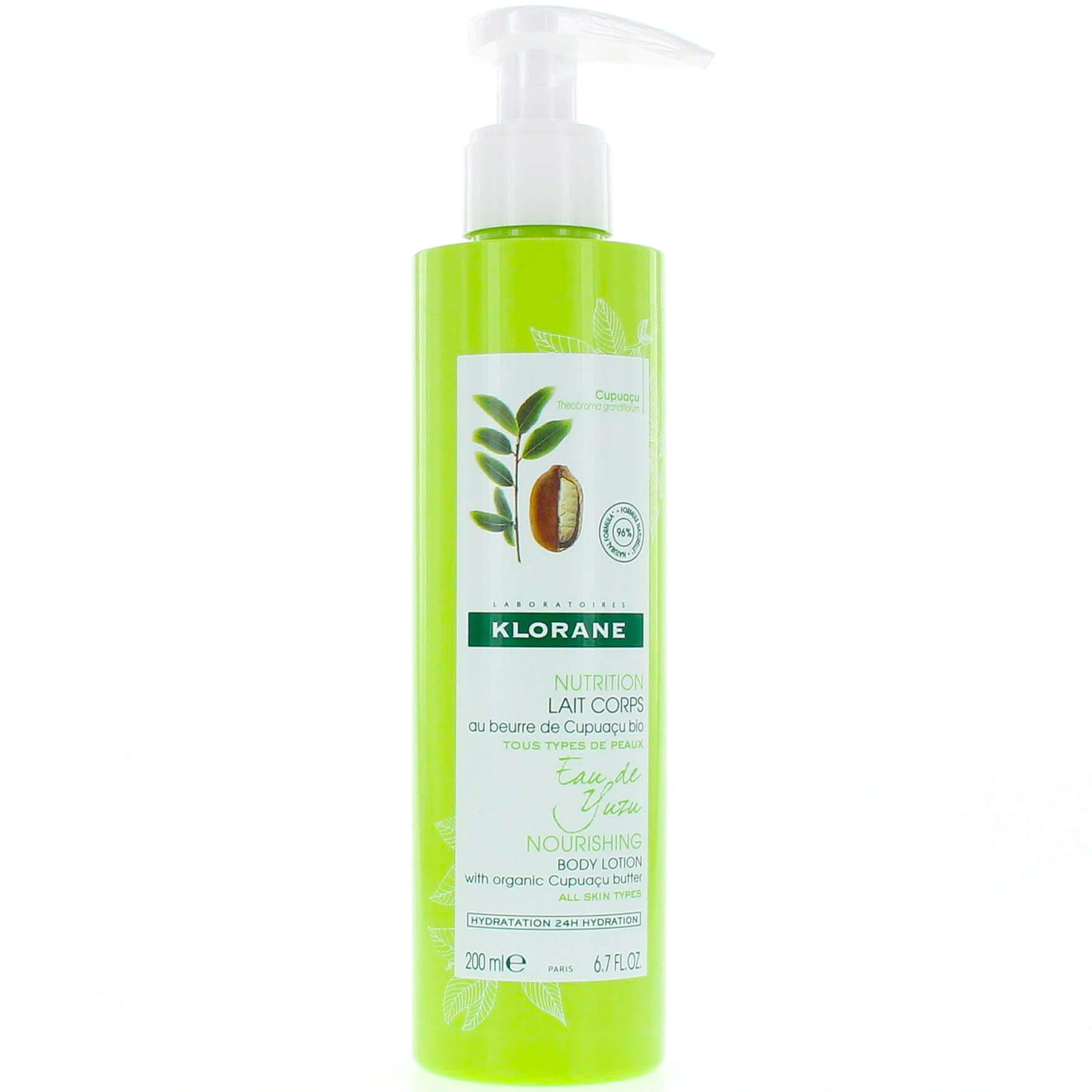 Klorane Nourishing Body Lotion with Organic Cupuacu Butter & Yuzu Infusion Θρεπτικό Γαλάκτωμα Σώματος με Άρωμα Νερού Yuzu 200ml