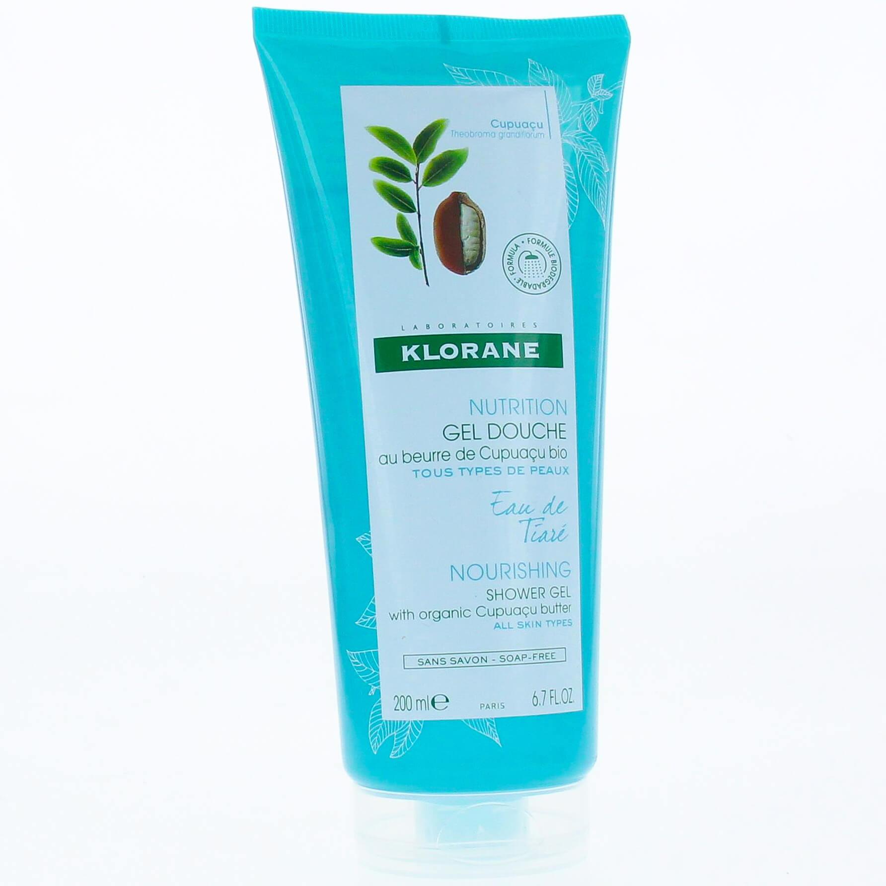 Klorane Nourishing Shower Gel with Organic Cupuacu Butter & Tiare Water Απαλό Αφρόλουτρο με Άρωμα Νερού Γαρδένιας 200ml