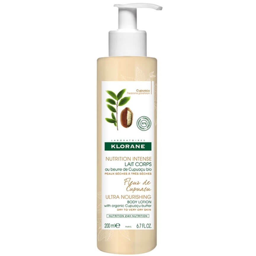 Klorane Nourishing Body Lotion with Organic Cupuacu Butter & Cupuacu Flower Θρεπτικό Γαλάκτωμα Σώματος Άρωμα Άνθος Cupuacu 200ml