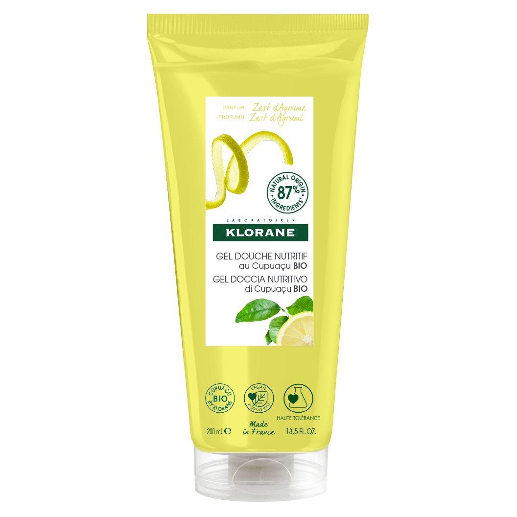 Klorane Nourishing Shower Gel with Organic Cupuacu Butter & Citrus Zest Θρεπτικό Αφρόλουτρο με Άρωμα Φλοιού Εσπεριδοειδών 200ml