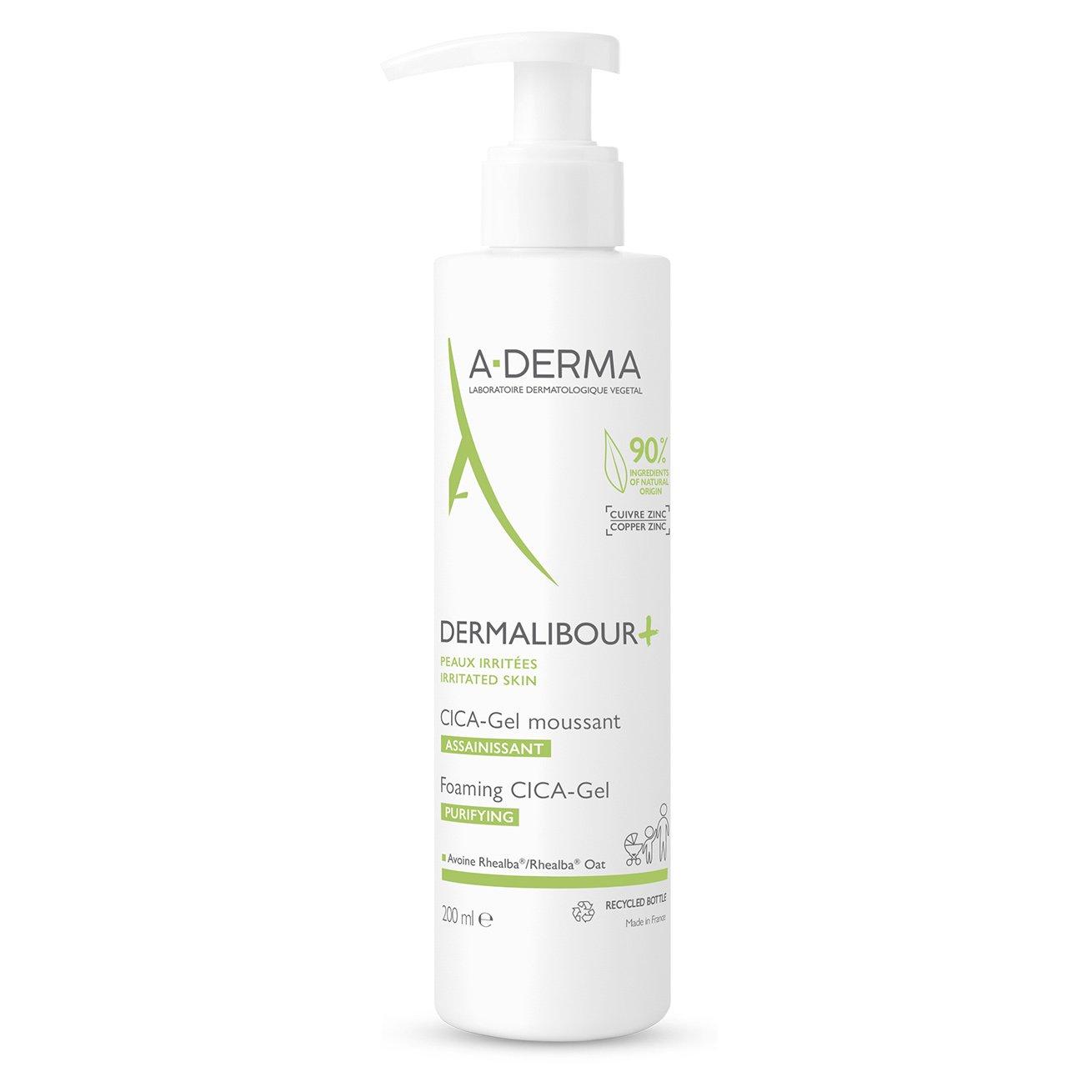A-Derma Dermalibour Foaming CICA-Gel Purifying Εξυγιαντικό Αφρίζον Gel για Πρόσωπο & Σώμα 200ml
