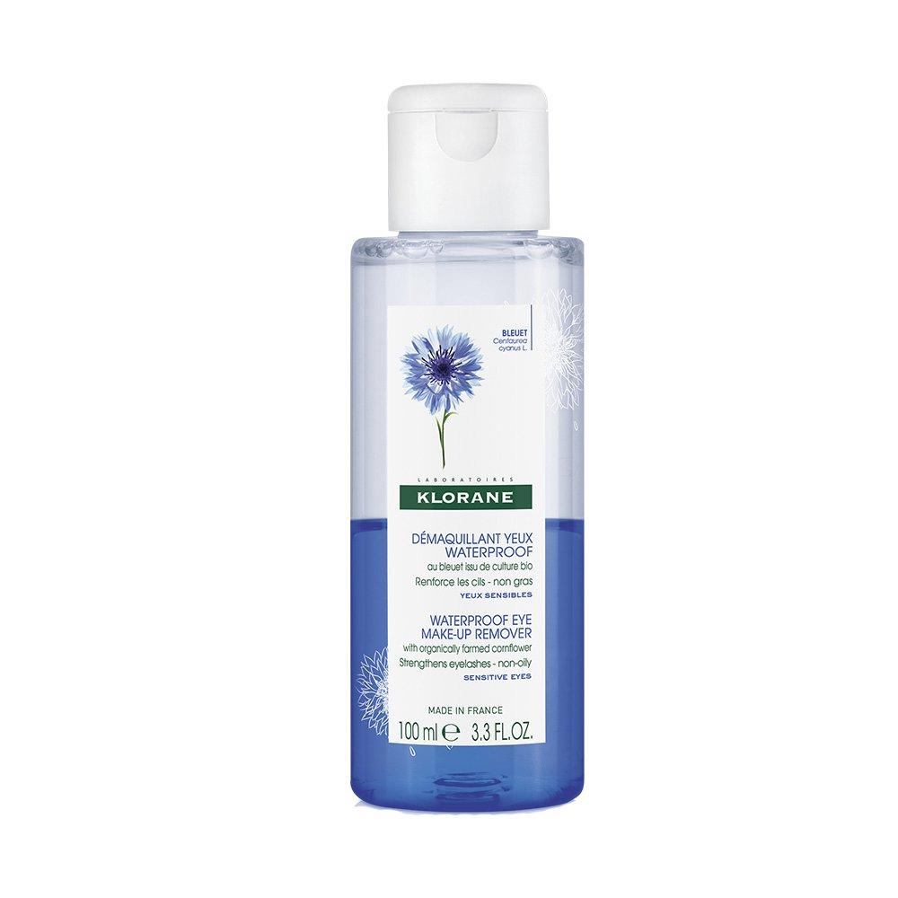 Klorane Demaquillant Yeux Waterproof au Bleuet Apaisant Ντεμακιγιάζ Ματιών με Διφασική Σύνθεση 100ml