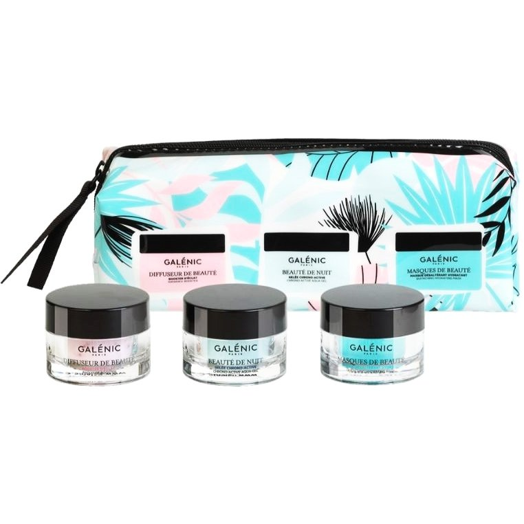 Galenic Set Diffuseur De Bauté Booster Λάμψης 15ml & Masques De Beaute Quenching Hydrating Mask 15ml & Beauté De Nuit 15ml