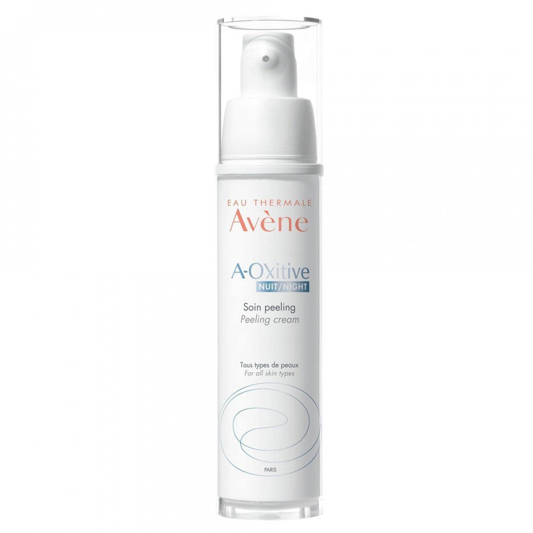 Avene A-Oxitive Peeling Night Cream Φροντίδα Νύχτας με Δράση Peeling για Λάμψη & Πρώτες Ρυτίδες 30ml