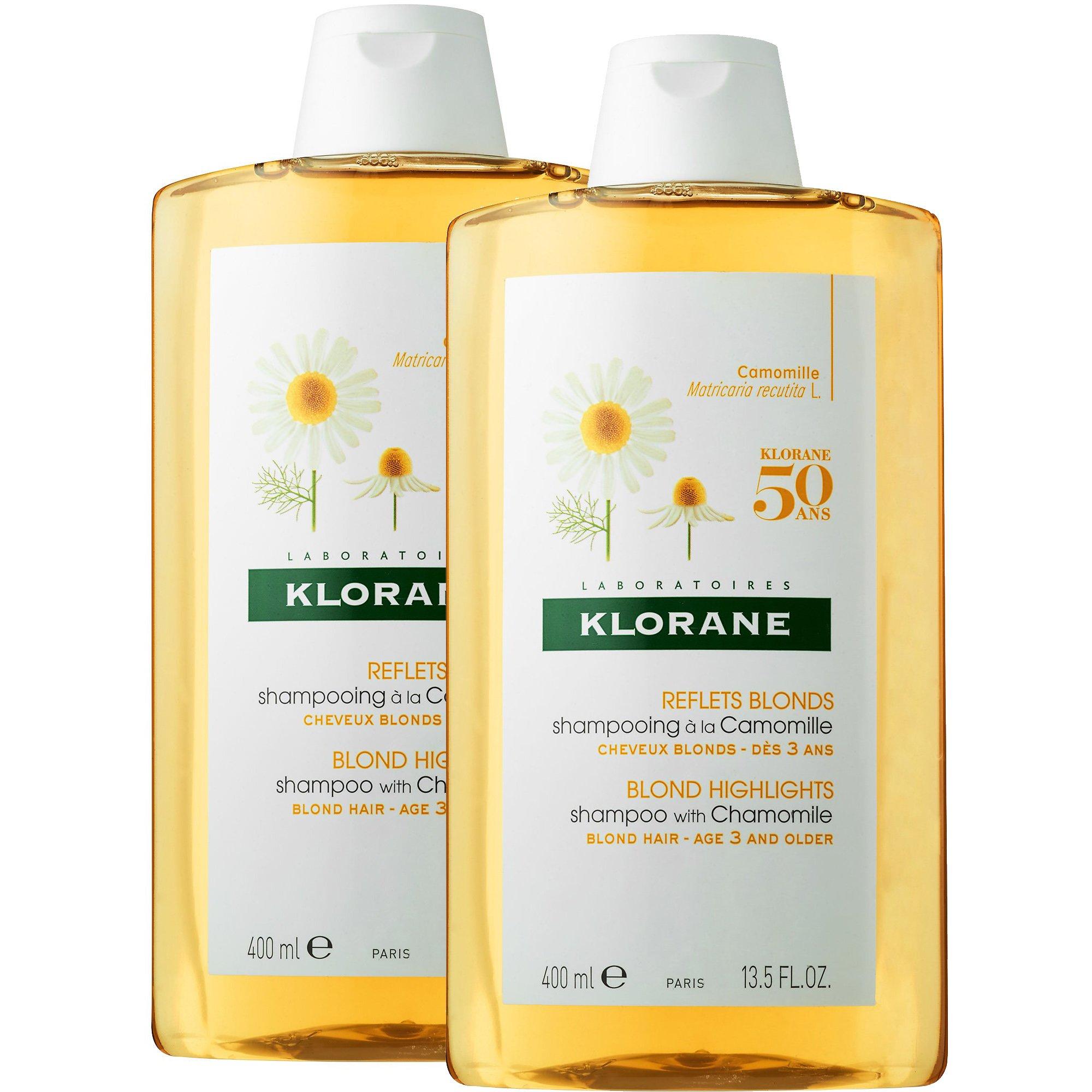 Klorane Πακέτο Προσφοράς Blond Highlights Shampoo with Chamomile Σαμπουάν με Εκχύλισμα Χαμομηλιού για Ξανθές Ανταύγειες 2x400ml