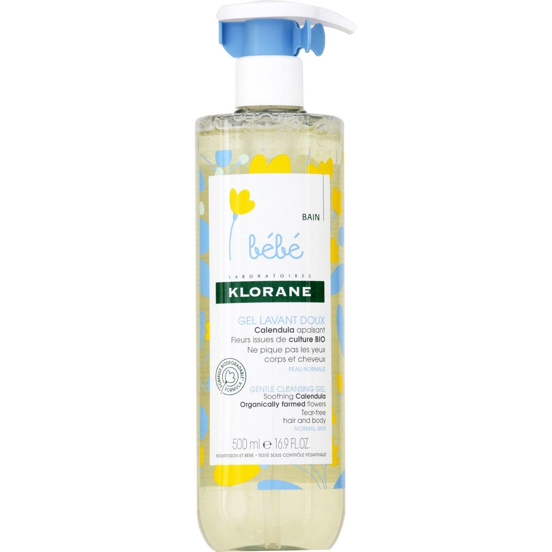 Klorane Bebe Gel Lavant Doux Calendula Βρεφικό Απαλό Ζελ Καθαρισμού για Σώμα – Μαλλιά με Οργανική Καλέντουλα 500ml Promo -25%