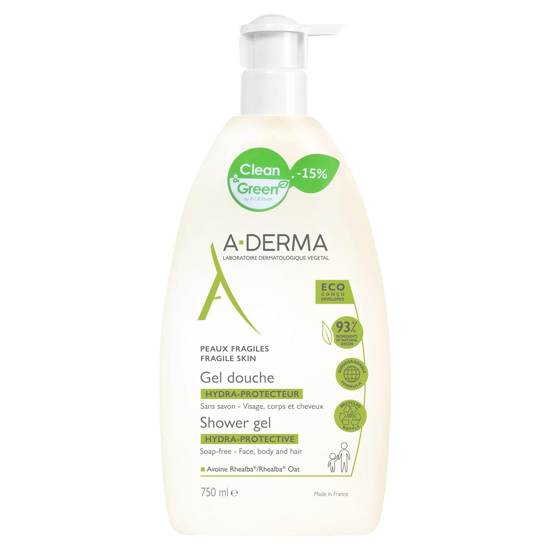 A-Derma Promo Hydra Protective Shower Gel Απαλό και Κρεμώδες Gel Καθαρισμού για Ευαίσθητες Επιδερμίδες 750ml -15%