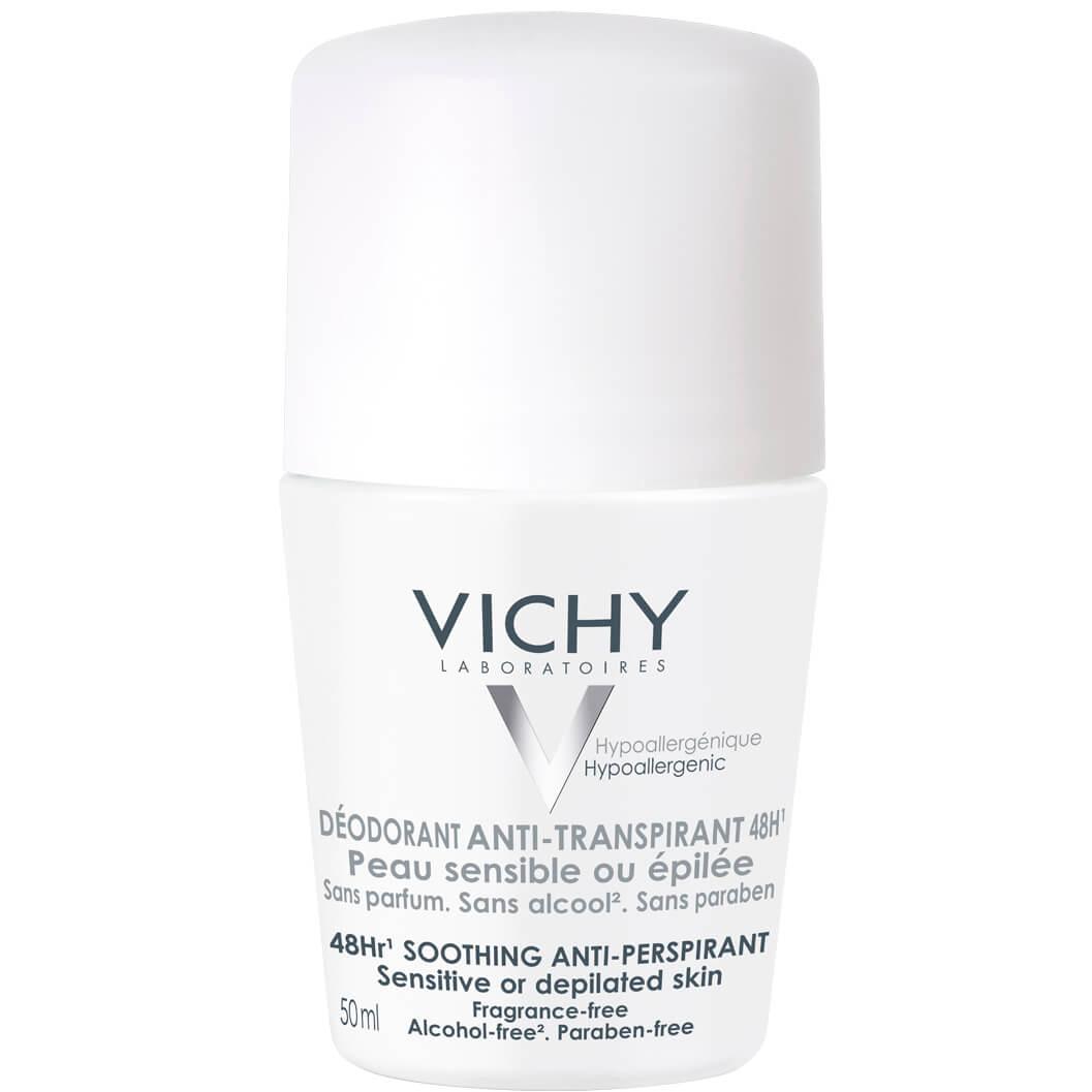 Deodorant Anti-transpirant48h 50ml – Vichy,Αποσμητική Φροντίδα 48ωρη για Ευαίσθητο ή Αποτριχωμένο Δέρμα