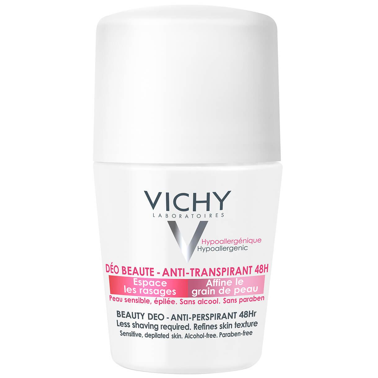 Vichy Deodorante Ideal Finish 48h Αποσμητική Φροντίδα για Γυναίκες με Ευχάριστο Άρωμα 50ml