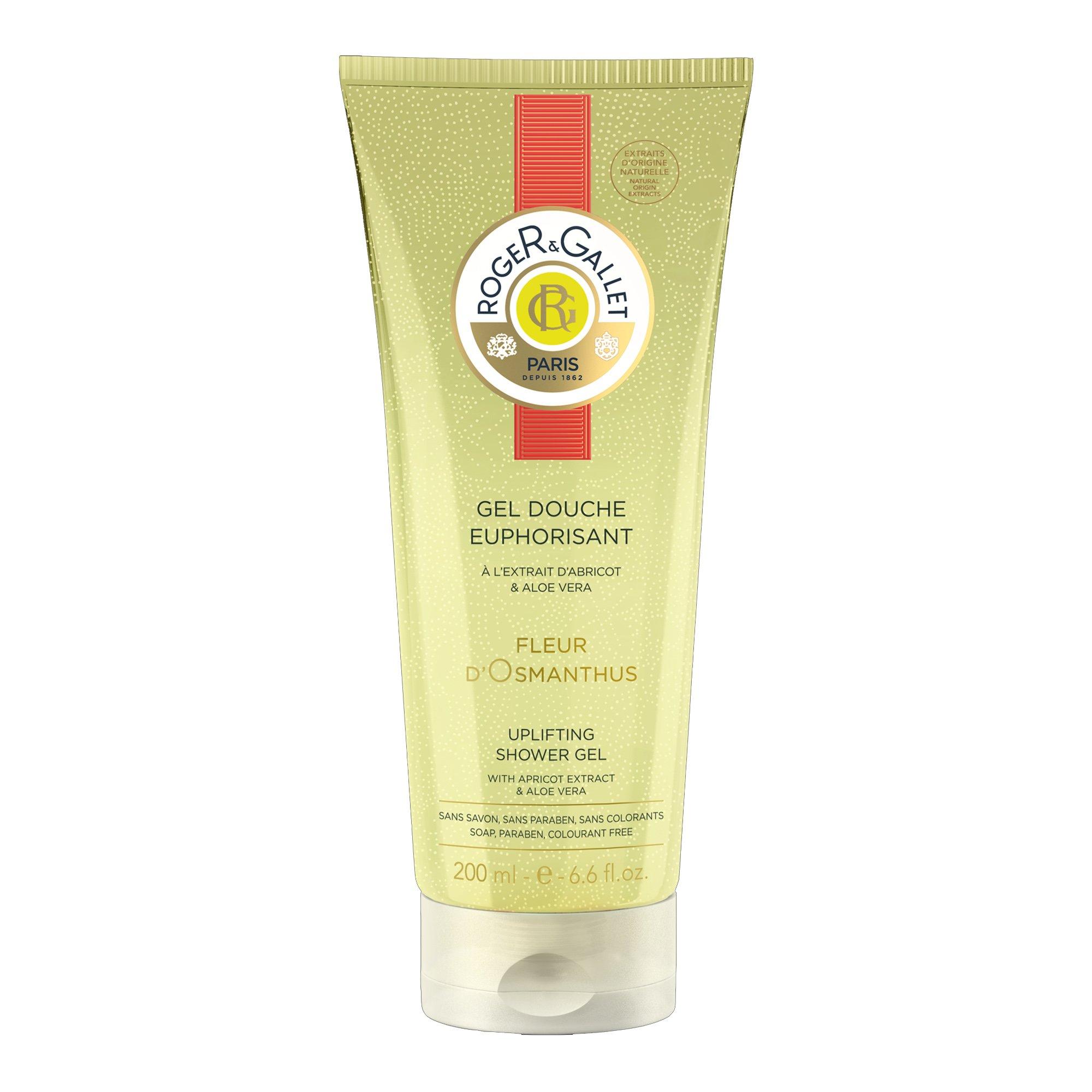 Roger & Gallet Fleur d'Osmanthus Uplifting Shower Gel Αναζωογονητικό Αφρόλουτρο Σώματος με Aloe Vera & Άρωμα Όσμανθου 200ml