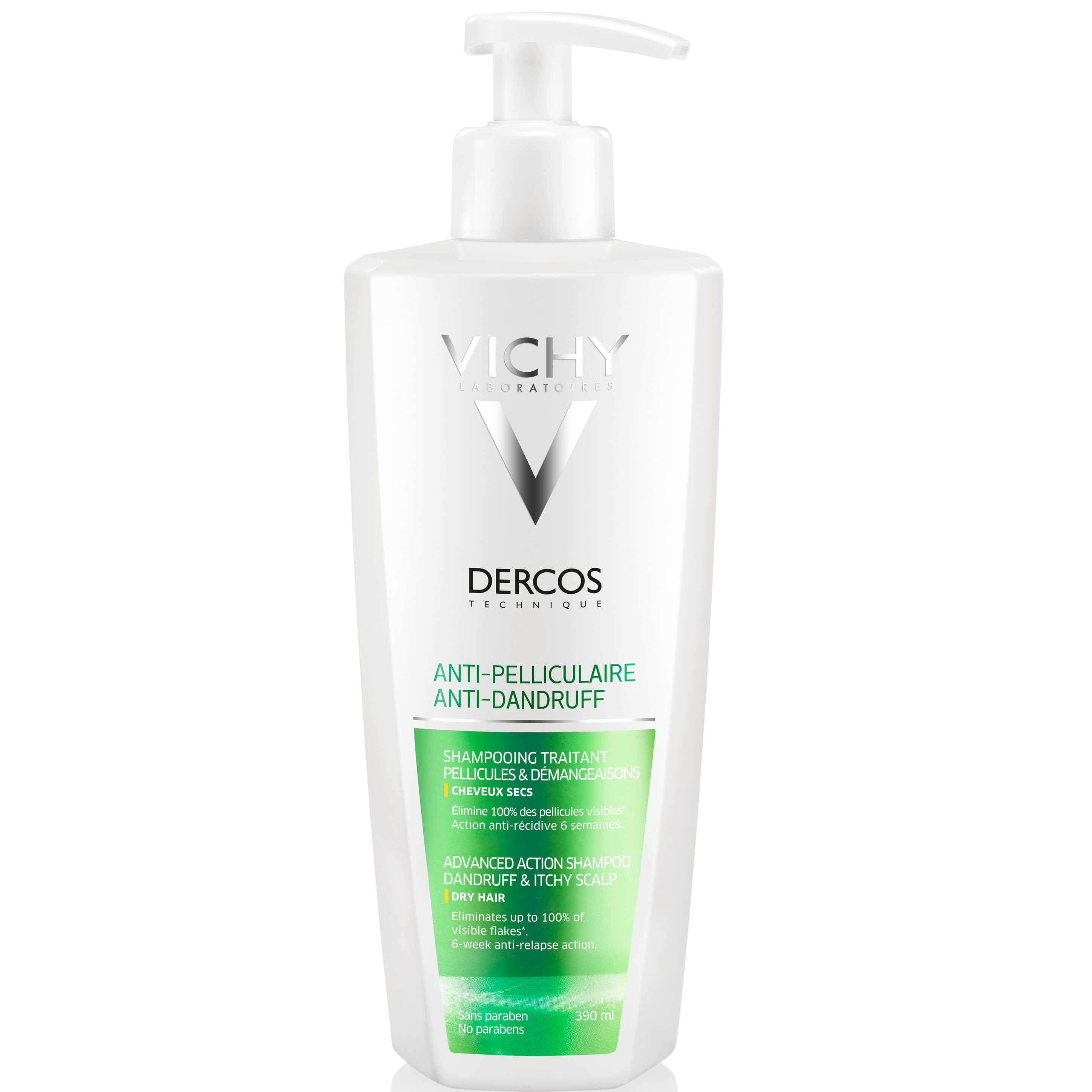 Vichy Dercos Anti-Dandruff DS Shampoo for Dry Hair Αντιπυτιριδικό Σαμπουάν για Ξηρά μαλλιά, 300ml & Δώρο 100ml