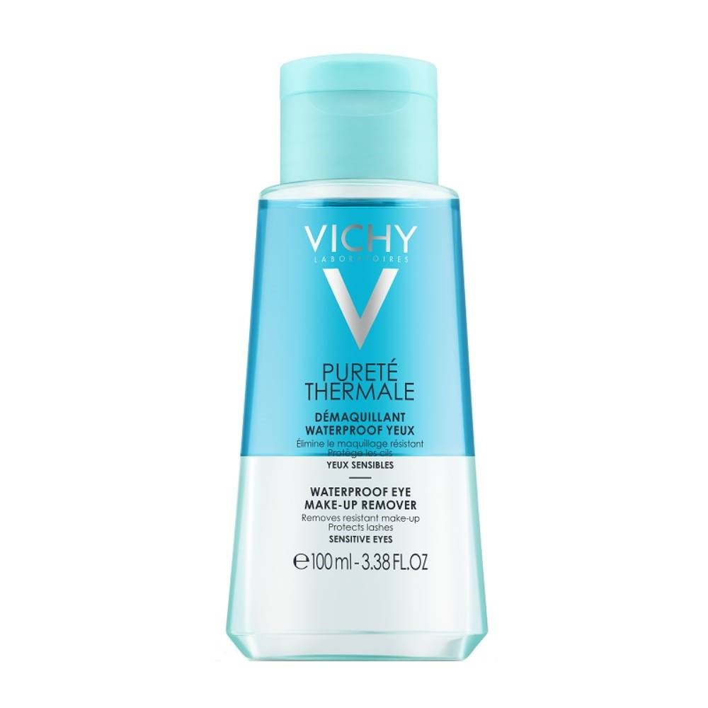 Vichy Purete Thermale Demaquillant Waterproof Yeux Διφασικό Ντεμακιγιάζ Ματιών για Αδιάβροχο Μακιγιάζ Travel Size 100ml