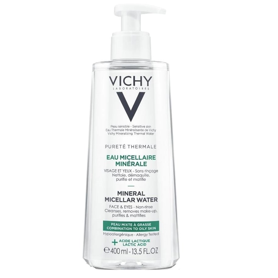 Vichy Purete Thermale Mineral Micellar Water για Μικτή – Λιπαρή Επιδερμίδα 400ml