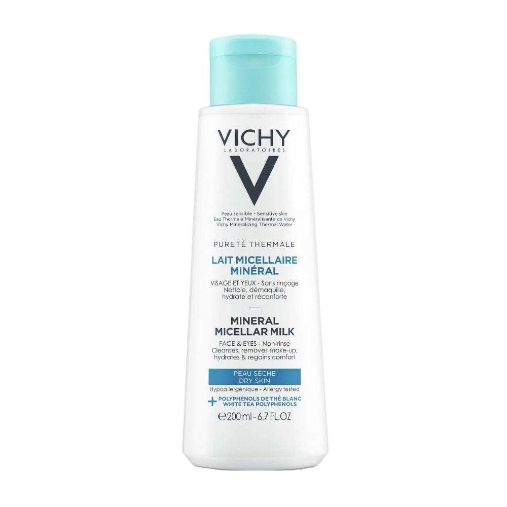 Vichy Purete Thermale Lait Micellaire Mineral Γαλάκτωμα Ντεμακιγιάζ για Ξηρή Επιδερμίδα 200ml