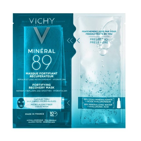 Vichy Mineral 89 Fortifying Instant Recovery Mask Μάσκα Ενδυνάμωσης & Επανόρθωσης 29gr