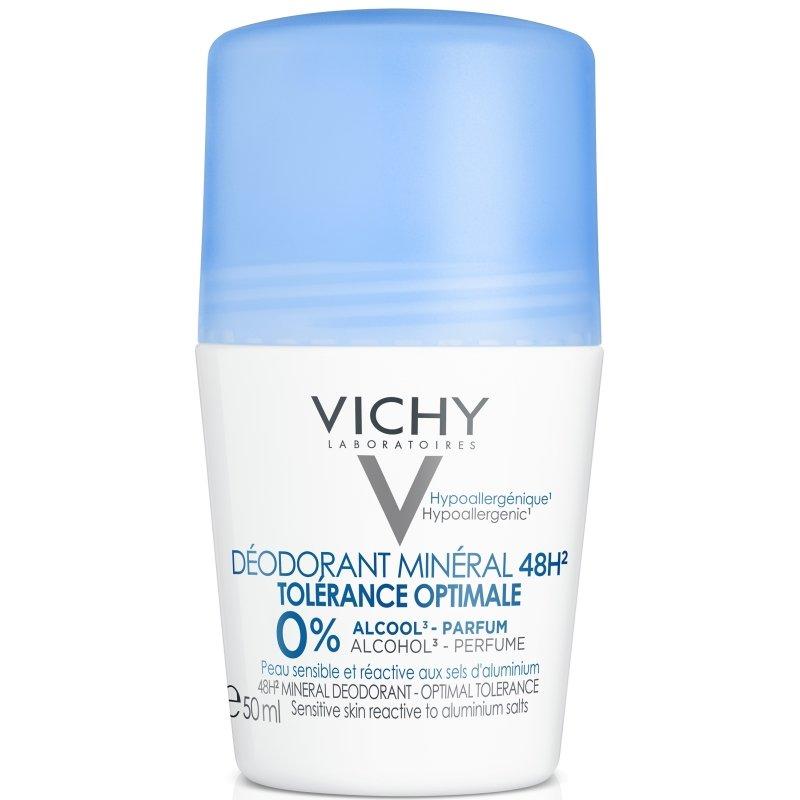 Vichy Deodorant Mineral 48h Tolerance Optimale Roll On Χωρίς Άρωμα για Ευαίσθητη & Αντιδραστική Επιδερμίδα 50ml