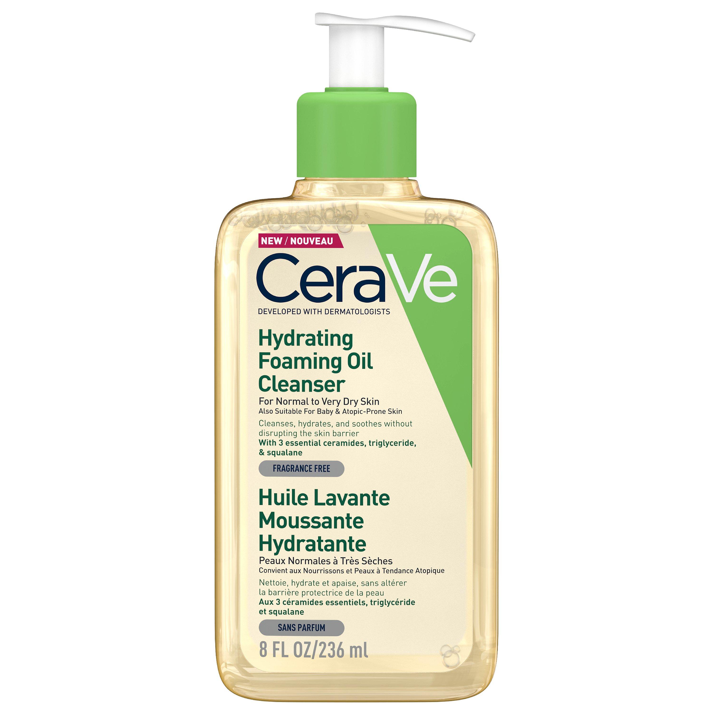 Cerave Hydrating Foaming Oil Cleanser Ενυδατικό Αφρώδες Έλαιο Καθαρισμού Προσώπου & Σώματος Ιδανικό για Ξηρές Επιδερμίδες 236ml