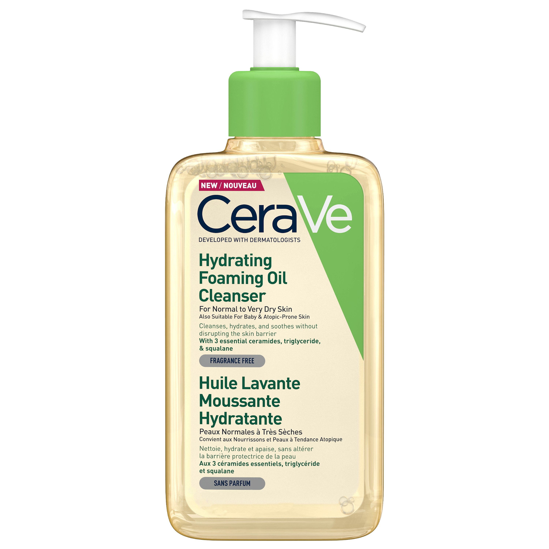 Cerave Hydrating Foaming Oil Cleanser Ενυδατικό Αφρώδες Έλαιο Καθαρισμού Προσώπου & Σώματος Ιδανικό για Ξηρές Επιδερμίδες 473ml