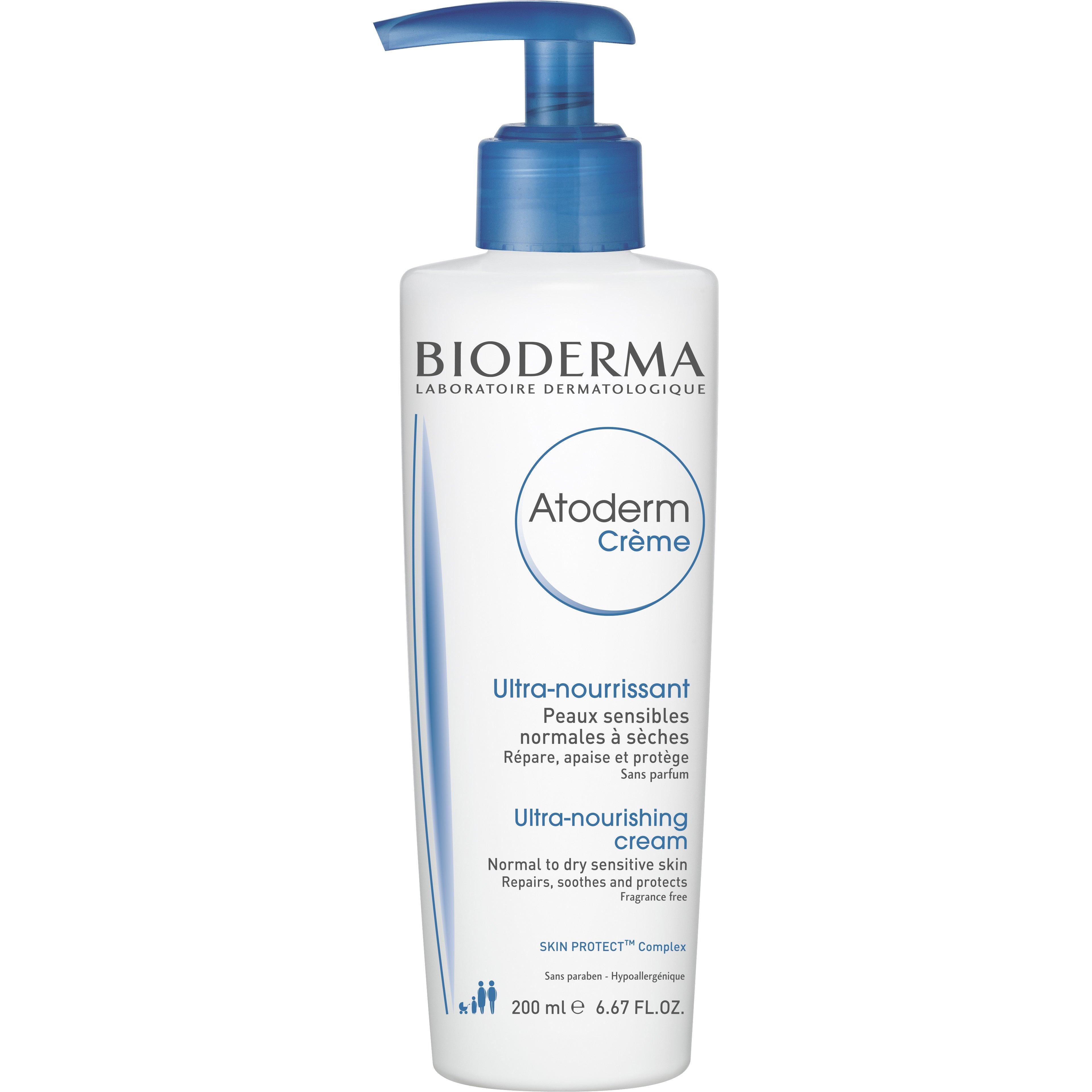 Bioderma Atoderm Creme 24ωρη Ενυδατική Κρέμα Μεγάλης Διάρκειας για το Ξηρό προς Πολύ Ξηρό Ευαίσθητο Δέρμα 200ml