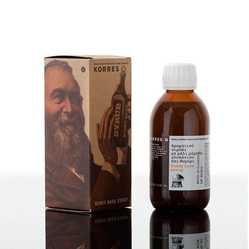 Korres Honey Base Syrup Αρωματικό Σιρόπι Με Μέλι Μάραθο Γλυκάνικο Θυμάρι 200ml,