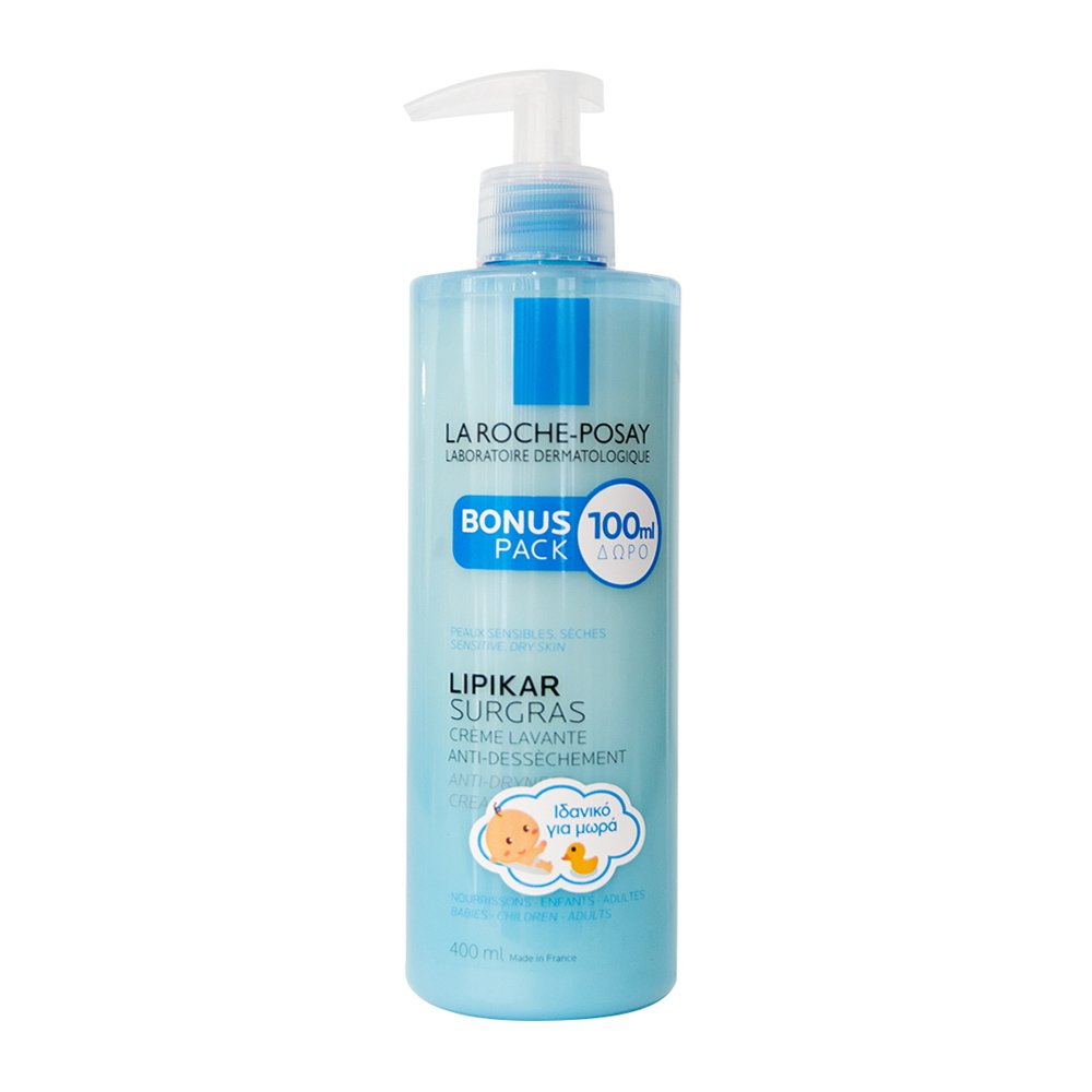 La Roche-Posay Lipikar Surgras Συμπυκνωμένη Κρέμα για Ντους που Αναπληρώνει τα Λιπίδια του Δέρματος 400ml