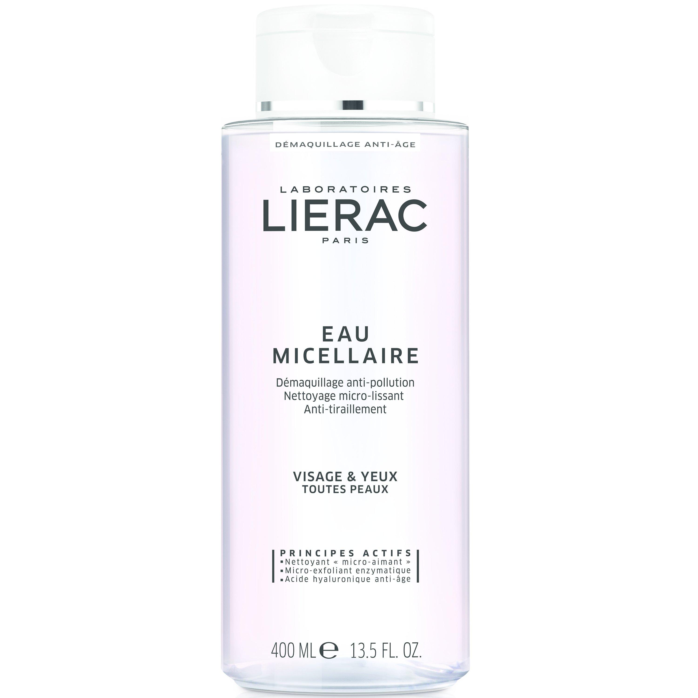 Lierac Eau Micellaire Anti-Pollution Demaquillage Νερό Καθαρισμού-Ντεμακιγιάζ για Πρόσωπο-Μάτια, Όλοι οι Τύποι Επιδερμίδας 400ml