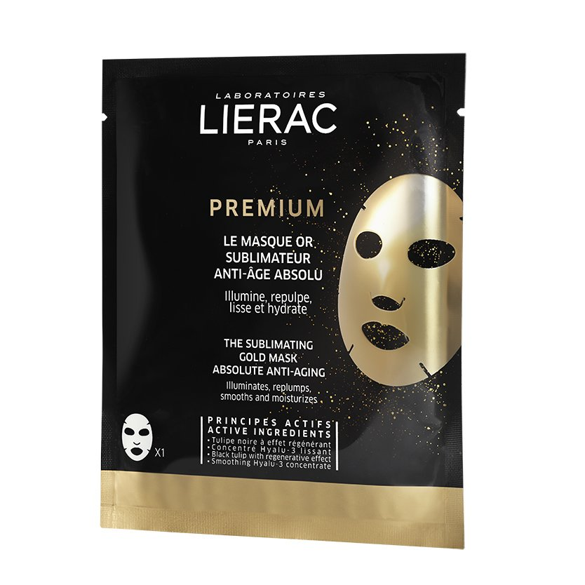 Lierac Premium The Sublimating Gold Mask Absolute Anti-Aging Χρυσή Μάσκα Απόλυτης Αντιγήρανσης 1 Τεμάχιο