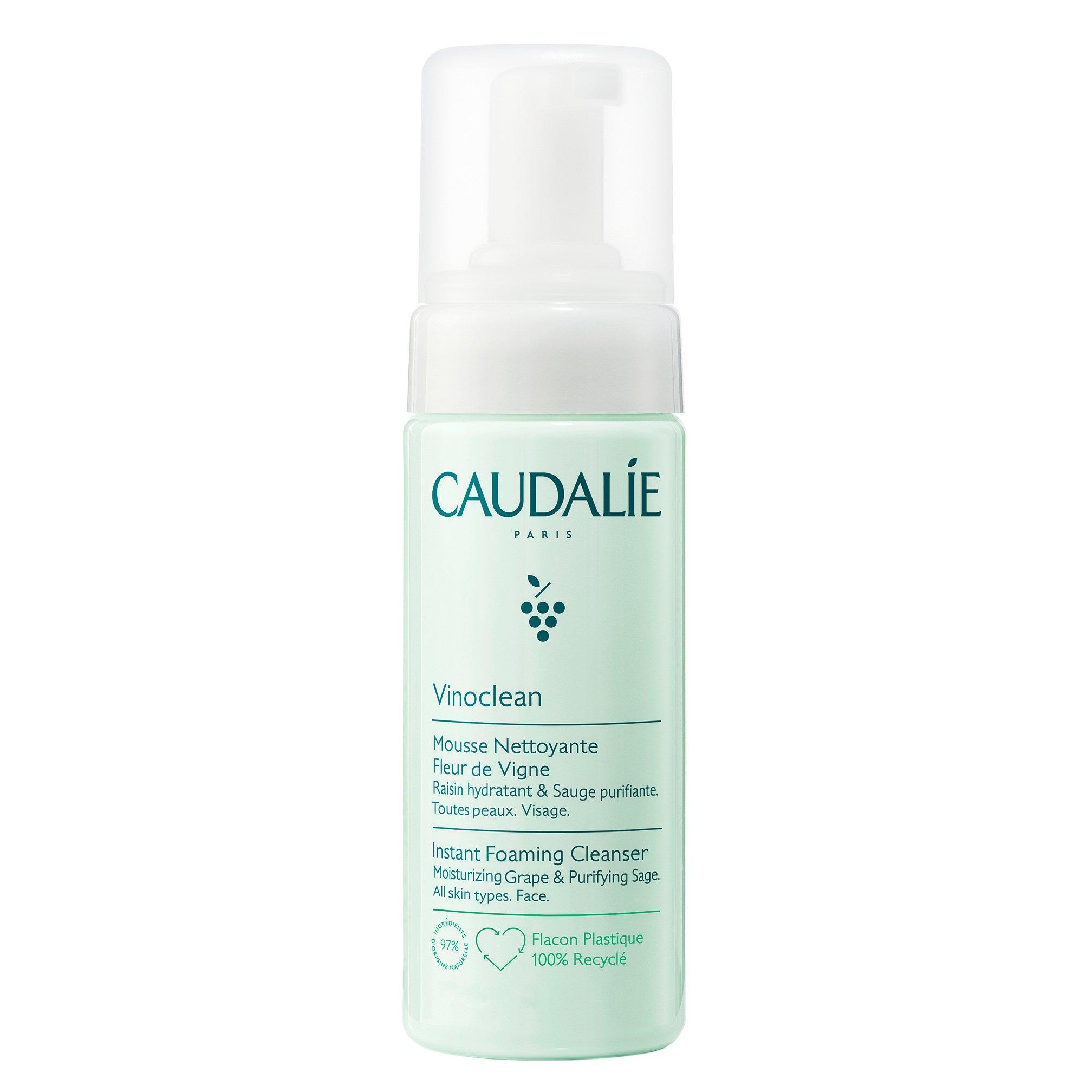 Caudalie Vinoclean Instant Foaming Cleanser Εξυγιαντικός Αφρός Καθαρισμού Προσώπου για Όλους τους Τύπους Επιδερμίδας 50ml