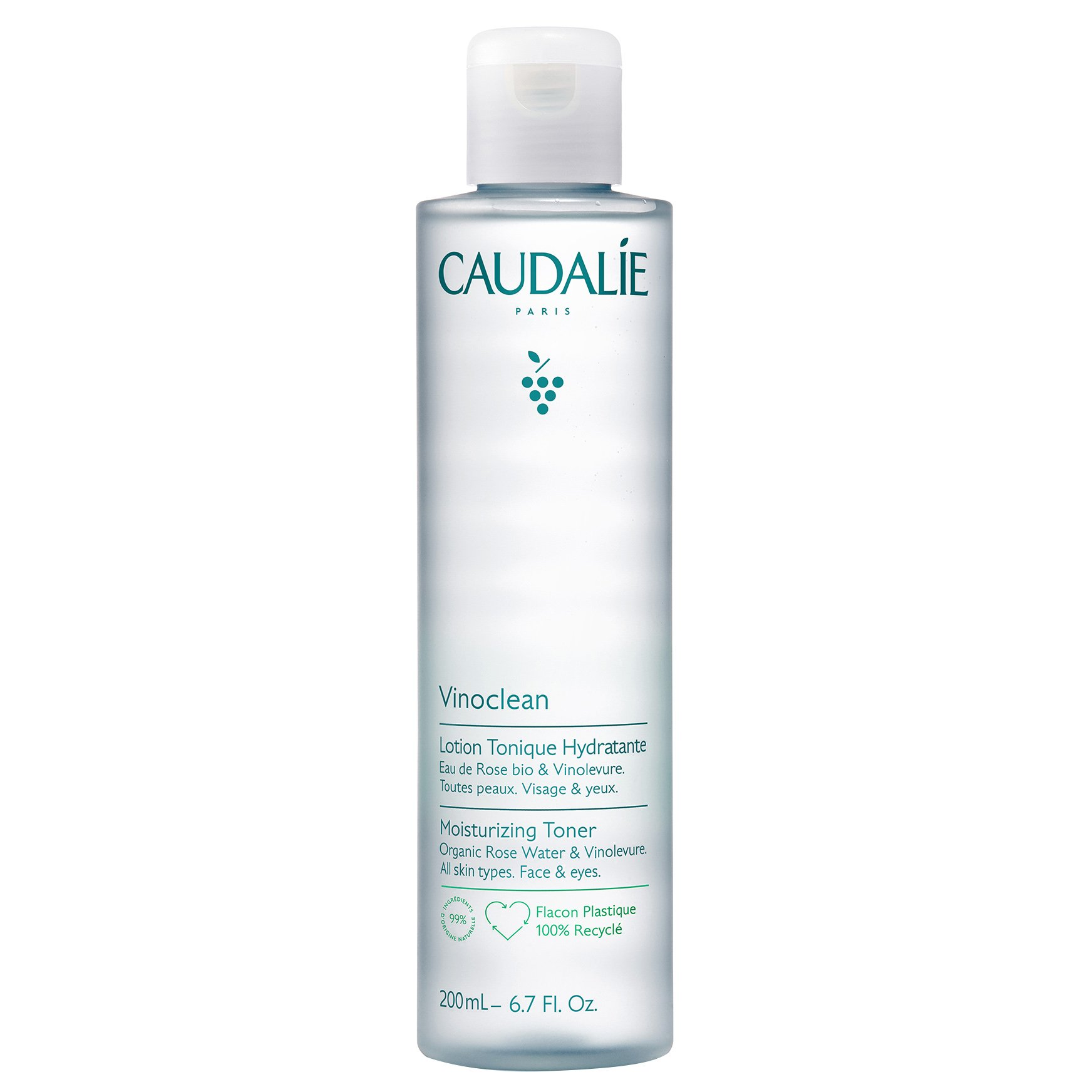 Caudalie Vinoclean Lotion Tonique Hydrante Ενυδατική Τονωτική Λοσιόν 200ml