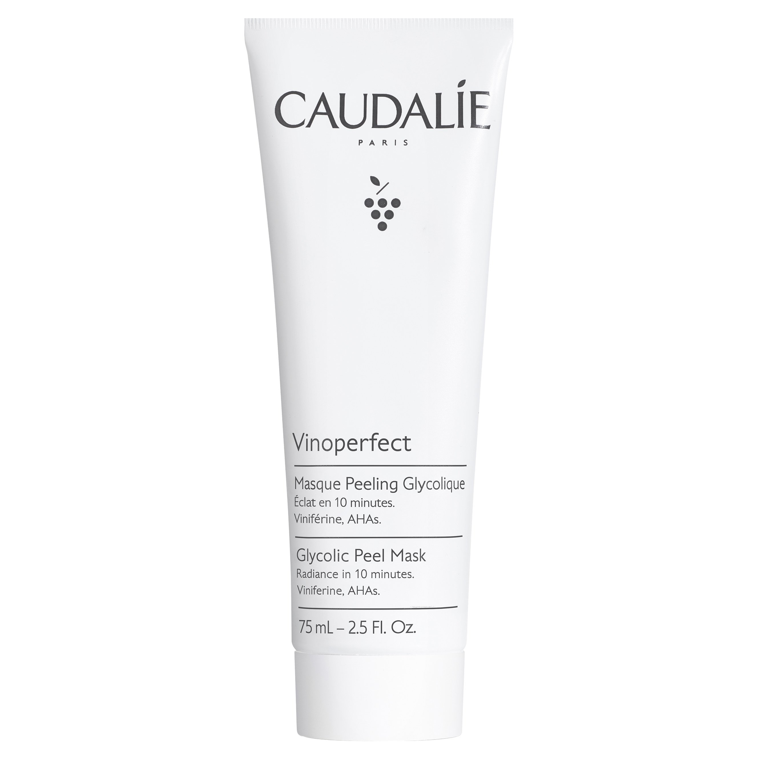 Caudalie Vinoperfect Glycolic Peel Mask Μάσκα Προσώπου Λάμψης & Απολέπισης 75ml
