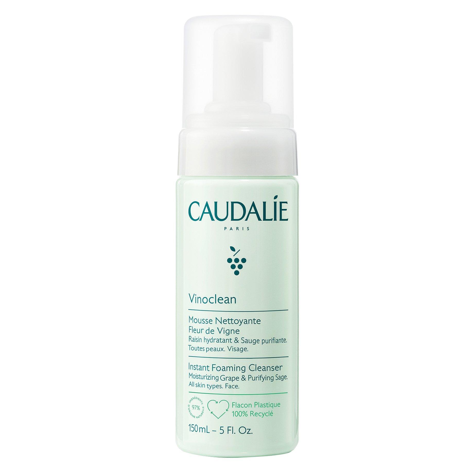 Caudalie Vinoclean Instant Foaming Cleanser Εξυγιαντικός Αφρός Καθαρισμού Προσώπου, Όλοι οι Τύποι Επιδερμίδας 150ml