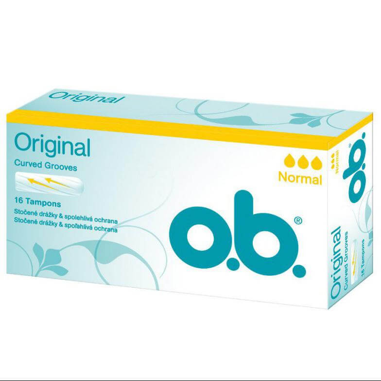O.b Original Normal Ταμπόν για Ημέρες με Μικρή Έως Μέτρια Ροή 16 Τεμάχια