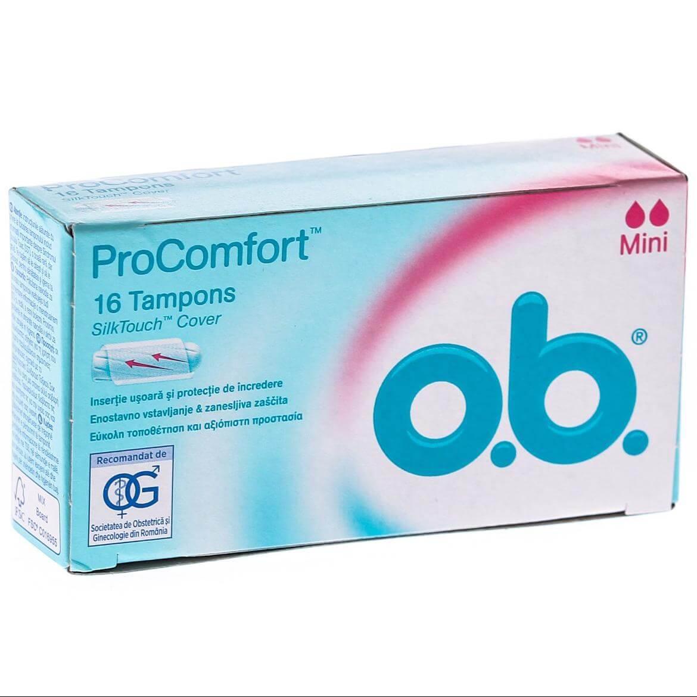 O.b. ProComfort Mini Ταμπόν για Πρώτη Φορά και Ημέρες με Πολύ Μικρή Ροή 16 Τεμάχια