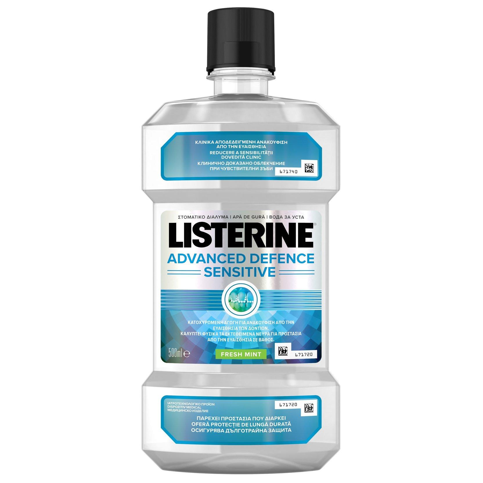 Listerine Advanced Defence Sensitive Στοματικό Διάλυμα για Ανακούφιση από την Ευαισθησία των Δοντιών 500ml