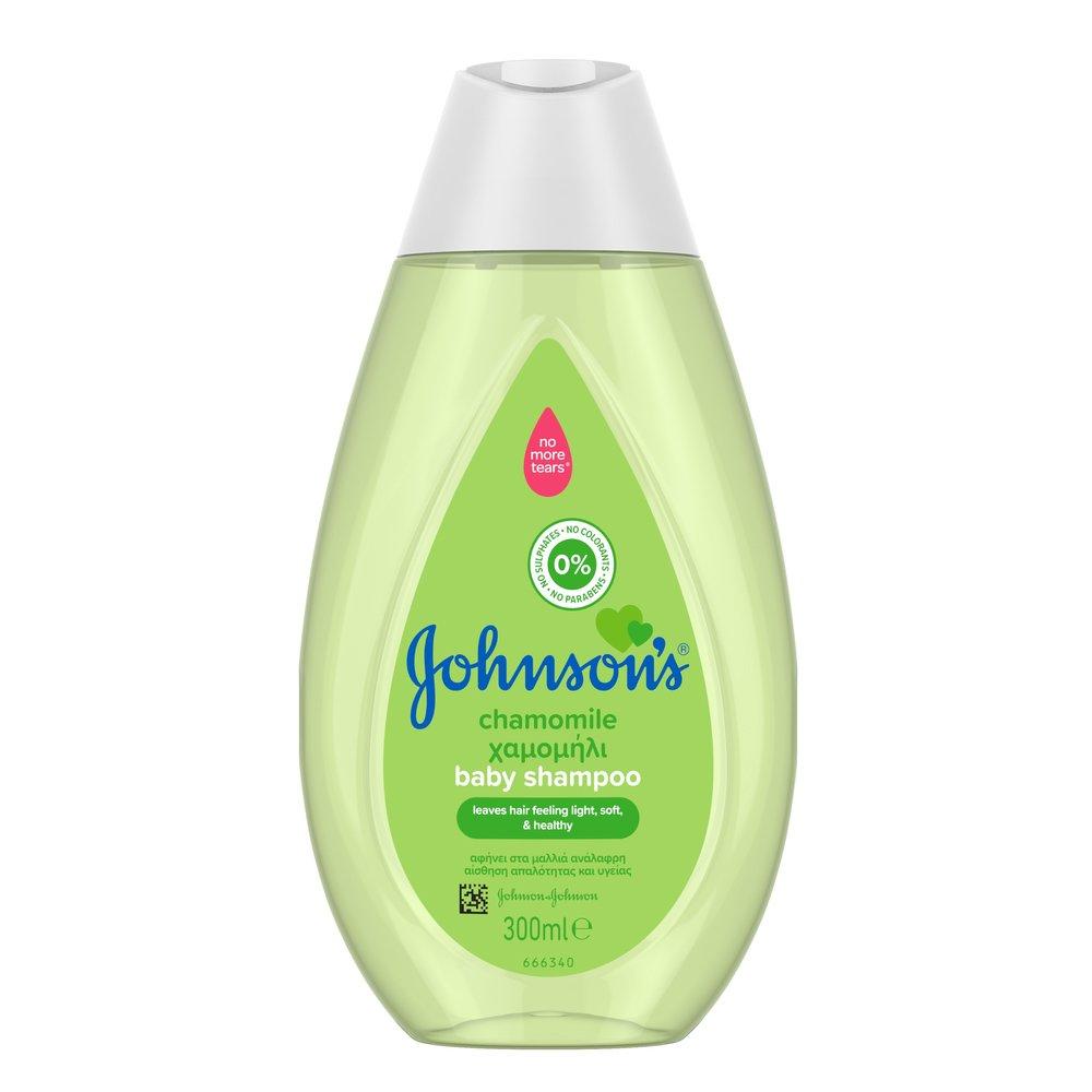 Johnson's Baby Shampoo Chamomile Βρεφικό Σαμπουάν με Χαμομήλι για Αίσθηση Απαλότητας & Υγείας στα Μαλλάκια 300ml