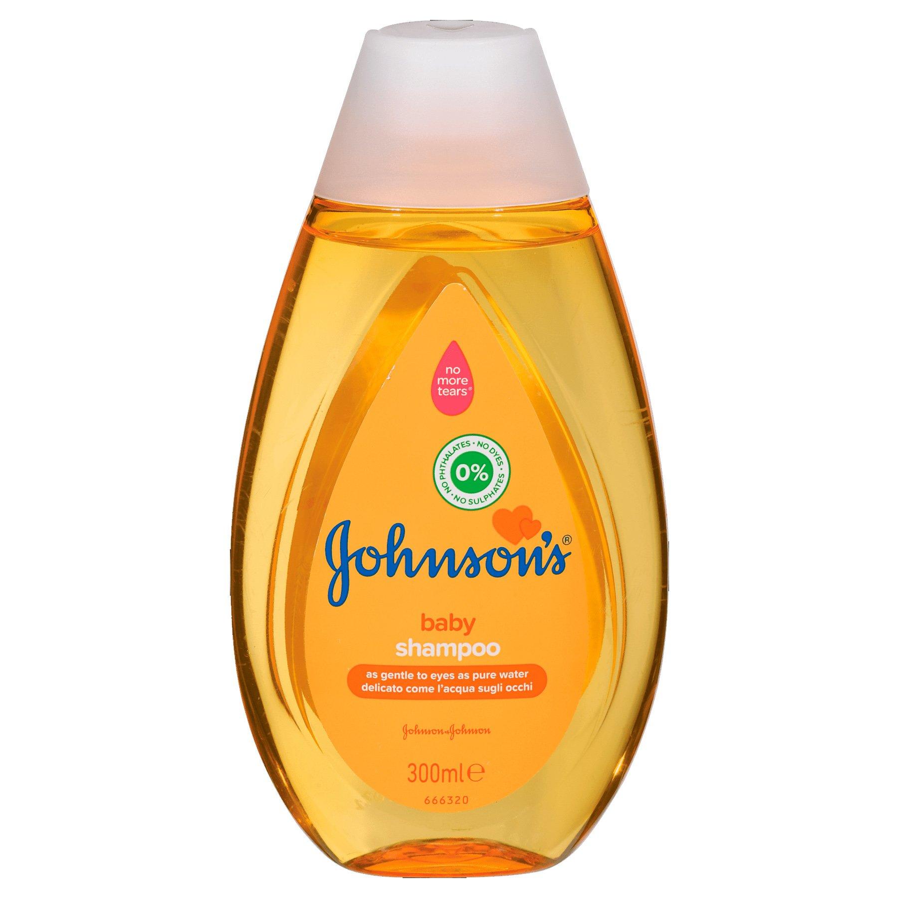 Johnson's Baby Shampoo Σαμπουάν Όχι πια Δάκρυα, Καθαρίζει Αποτελεσματικά Αφήνοντας τα Μαλλάκια του Μωρού Λεία και Λαμπερά 300ml