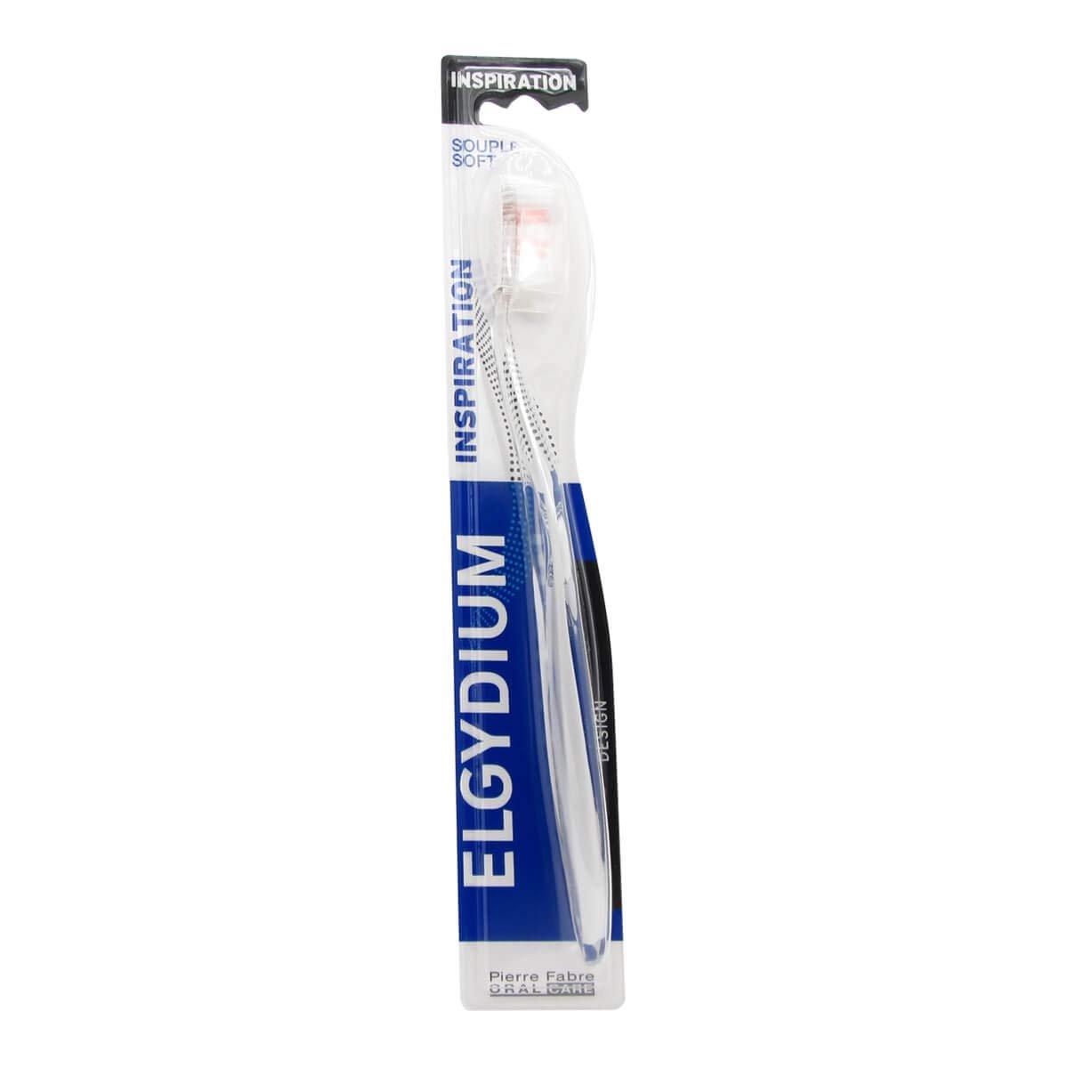 Elgydium Inspiration Soft Χειροκίνητη Μαλακή Οδοντόβουρτσα για Άνετο Καθαρισμό & στα πιο Δύσκολα Σημεία 1 Τεμάχιο – μαύρο
