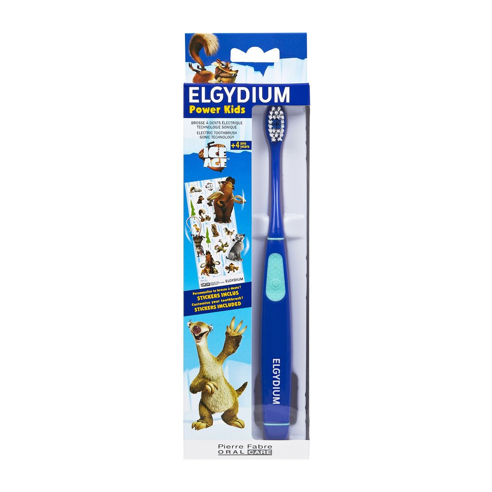 Elgydium Power Kids Ice Age Ηλεκτρική Οδοντόβουρτσα για Παιδιά από 4 Ετών Χρώμα Μπλε